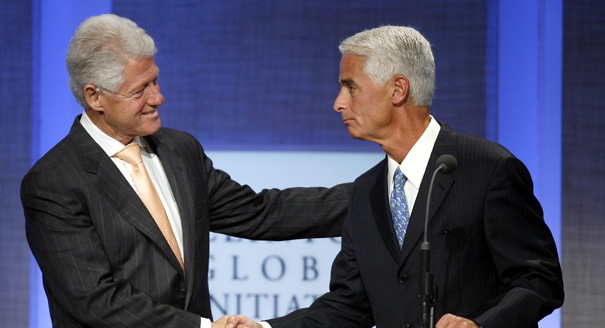 Bill Clinton and Charlie Crist: The odd couple