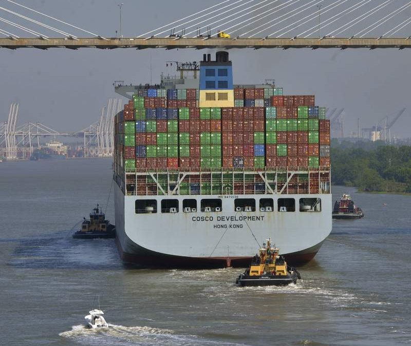 Savannah welcomes largest-ever cargo ship into port