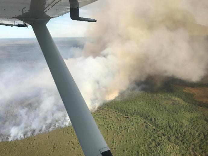 Okefenokee fire almost controlled